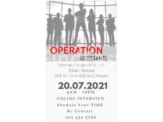 Operation Assitants